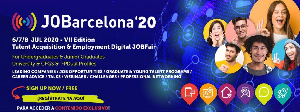 Empleo Job Barcelona 2020 Banner