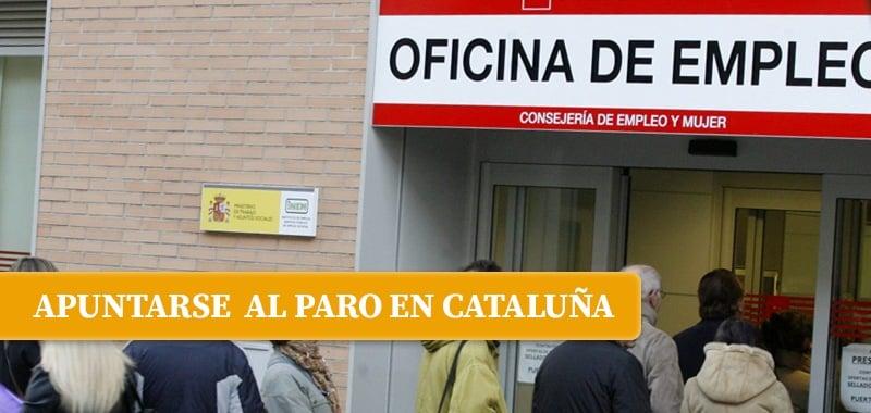 apuntarse paro cataluna