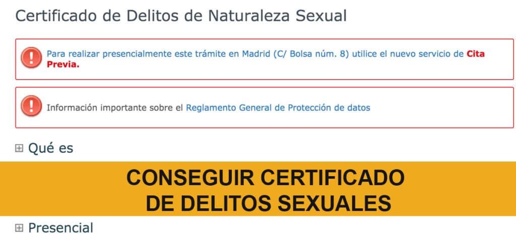 Conseguir Certificado Delito Sexual