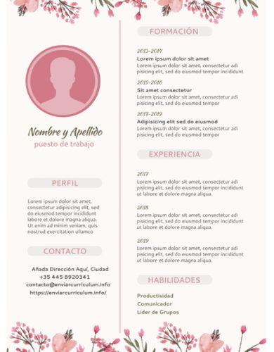 CV florido creativo