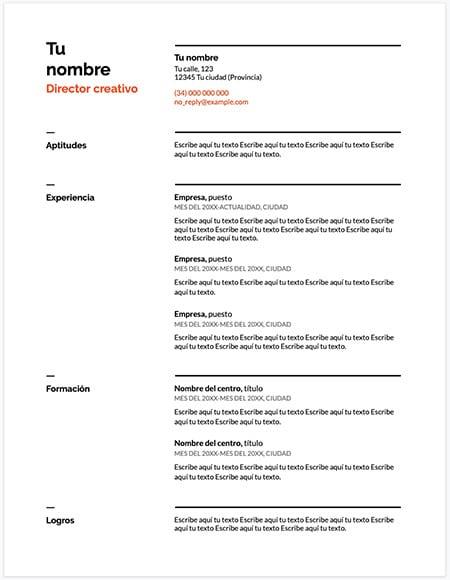 u20de descargar plantilla curriculum vitae suizo