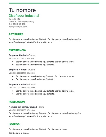 plantilla curriculum menta - Plantilla curriculum vitae menta