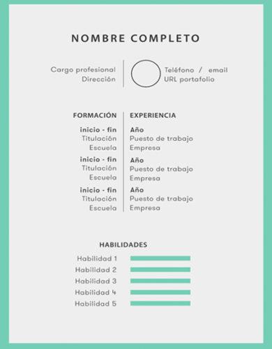 plantilla curriculum sencilla 390x500 - Enviar Curriculum Vitae