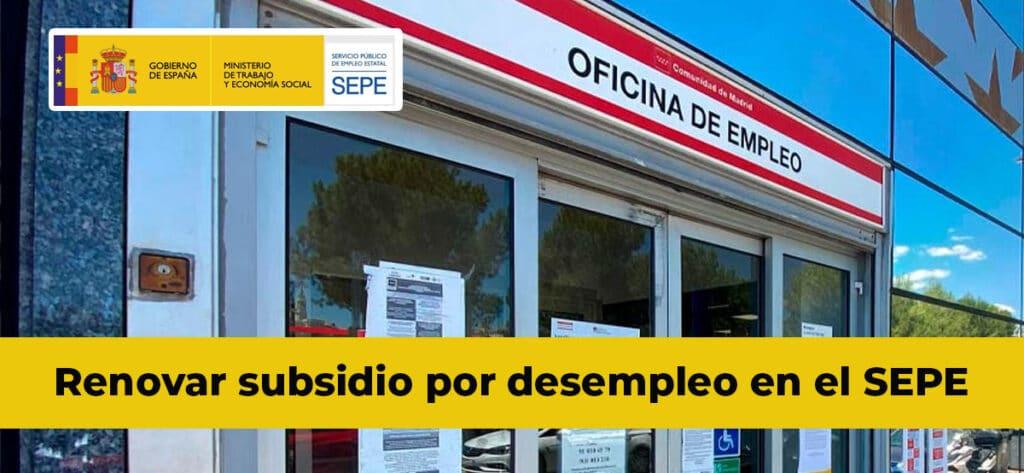 Renovar Subsidio Desempleo Sepe
